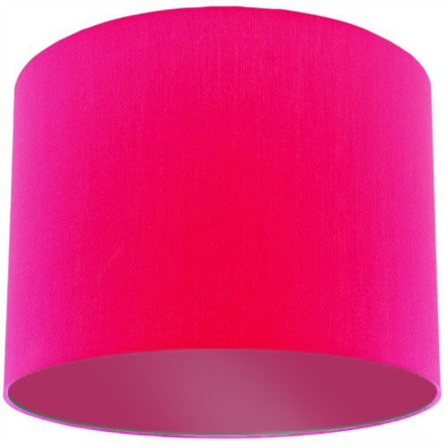 Pink Lamp Shade with Violet Lining