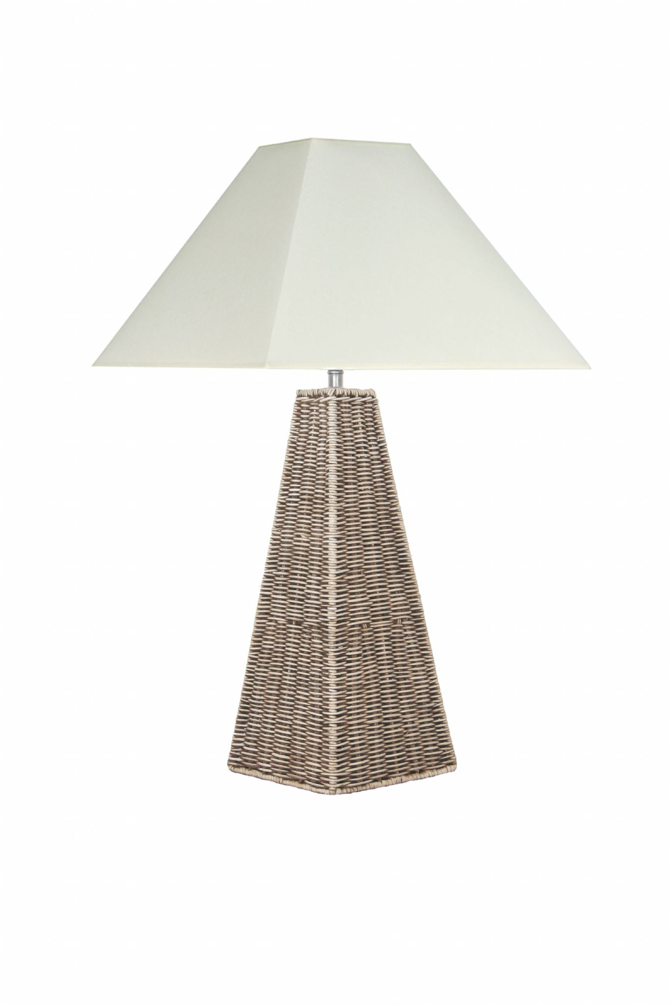 Rattan Pyramid Table Lamp Base Only