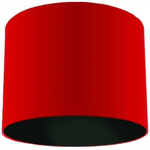 Red Lamp Shade with Black Lining