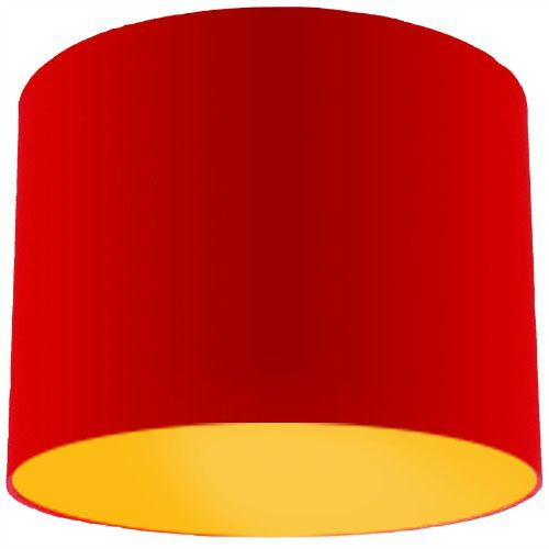 Red lamp shade with bright yellow lining aloadofball Gallery