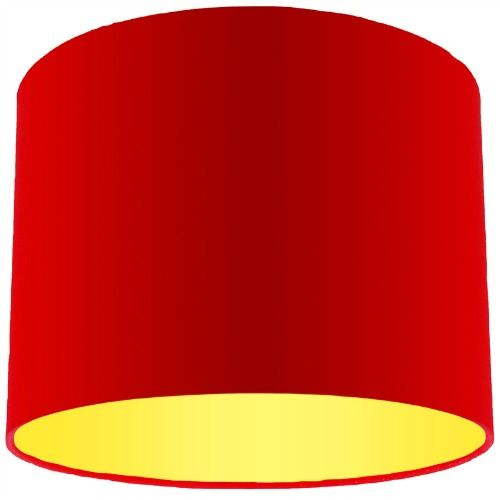 Red lamp shade with primrose lining aloadofball Gallery