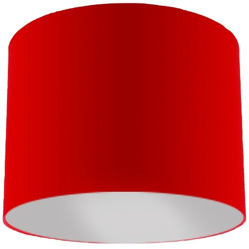 Red Lamp Shade with Silver Lining