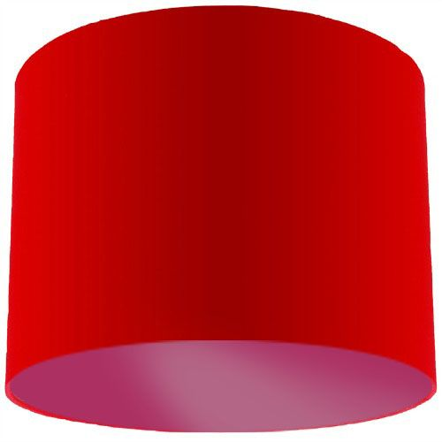 Red Lamp Shade with Violet Lining