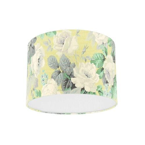 Sanderson Chelsea Linden / Silver Fabric Drum Lampshade