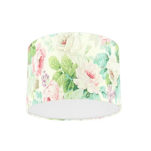 Sanderson Chelsea Pink / Celadon Fabric Drum Lampshade