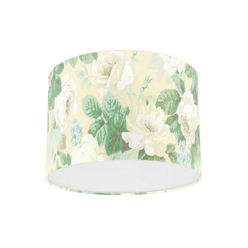 Sanderson Chelsea Sage / Ivory Fabric Drum Lampshade