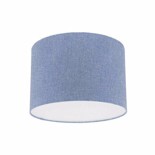 Sanderson Chino Denim Blue Fabric Drum Lampshade