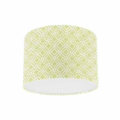 Sanderson Fretwork Apple / Taupe Fabric Drum Lampshade