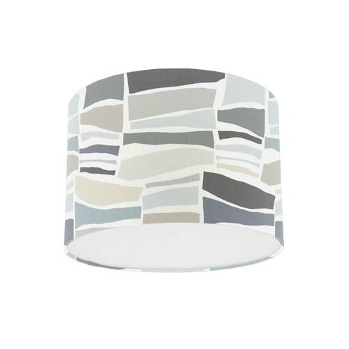 Sanderson Papavera Milla Charcoal Neutral  Fabric Drum Lamp Shade