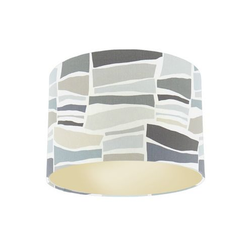 Sanderson Papavera Milla Charcoal Neutral  Fabric Drum Lamp Shade with Champagne Lining