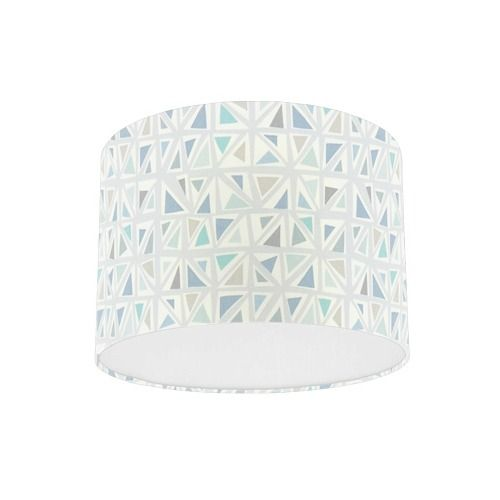 Sanderson Papavera Mosaica Mineral / Multi Fabric Drum Lamp Shade