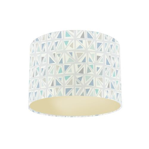 Sanderson Papavera Mosaica Mineral / Multi Fabric Drum Lamp Shade with Champagne Lining