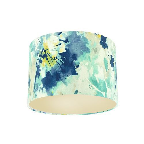 Sanderson Simi Aegean Fabric Drum Lamp Shade with Champagne Lining