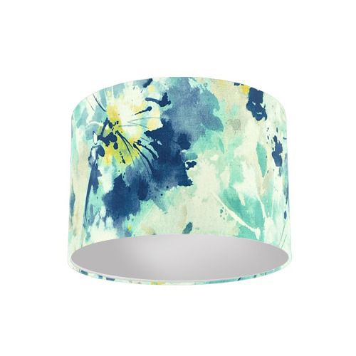 Sanderson Simi Aegean Fabric Drum Lamp Shade with Silver Lining
