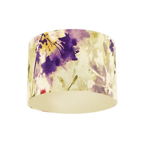 Sanderson Simi Amethyst Fabric Drum Lamp Shade with Champagne Lining