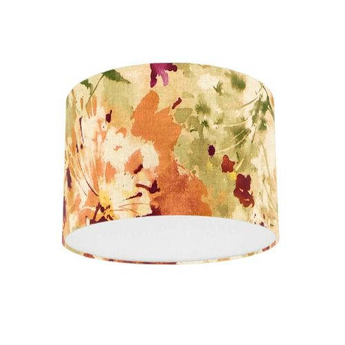 Sanderson Simi Copper Fabric Drum Lamp Shade