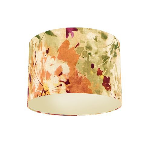 Sanderson Simi Copper Fabric Drum Lamp Shade with Champagne Lining