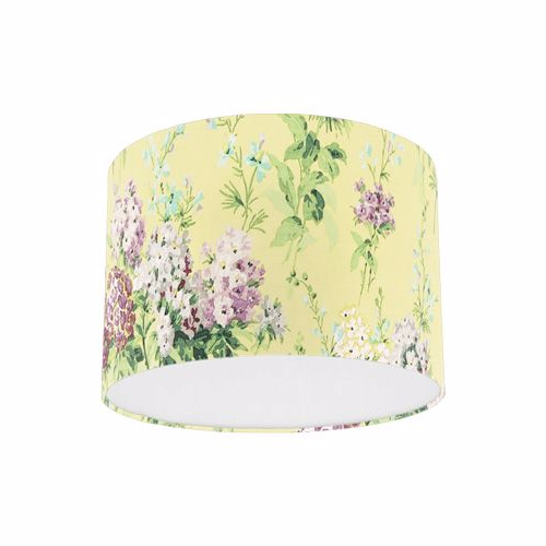 Sanderson Sweet Williams Linden Mulberry Fabric Drum Lampshade