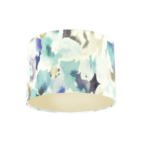 Sanderson Varese Cobalt Fabric Drum Lamp Shade with Champagne Lining