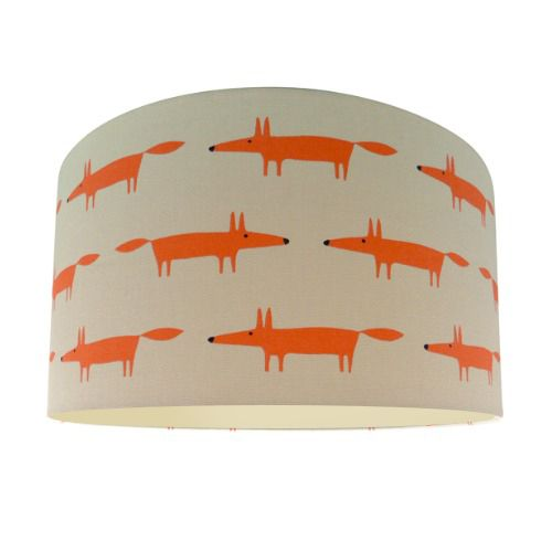 Scion Mr Fox Ginger Lamp Shade with Champagne Lining