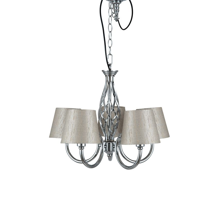 Silver chrome 5 arm chandelier aloadofball Image collections