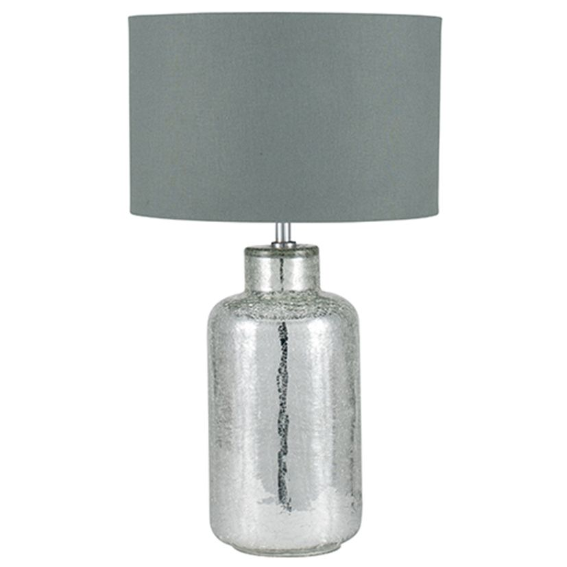 Silver crackle glass table lamp aloadofball Images