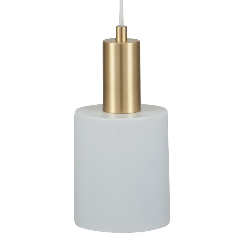 White brass single drop electrified ceiling pendant light aloadofball Choice Image