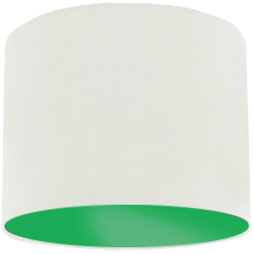 White Lamp Shade with Apple Green Lining