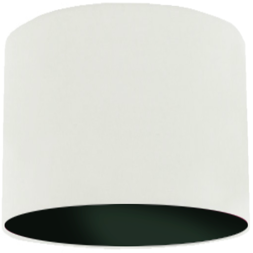 White Lamp Shade with Black Lining