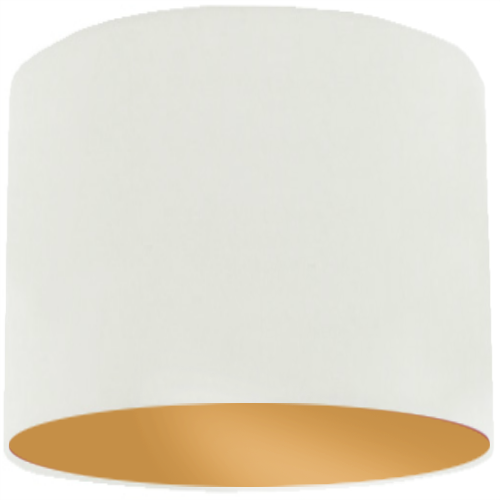 White Lamp Shade with Gold Lining