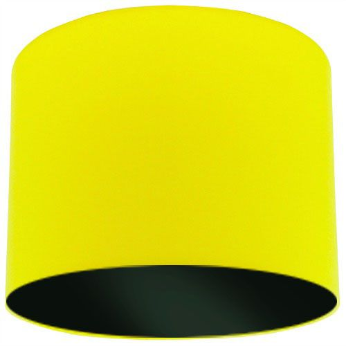 Yellow Lamp Shade with Black Lining