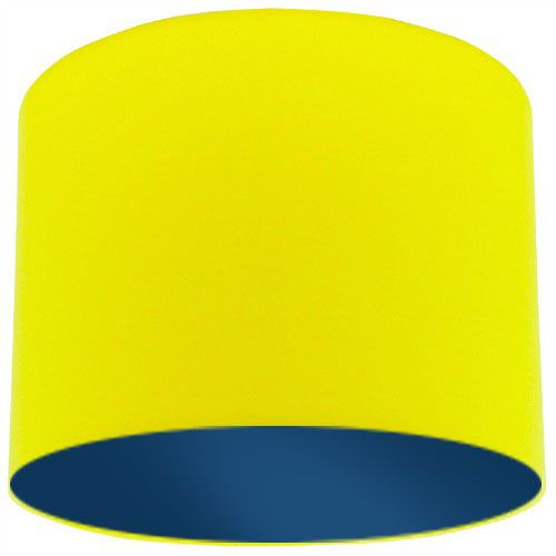 Yellow Lamp Shade with Dark Blue Lining
