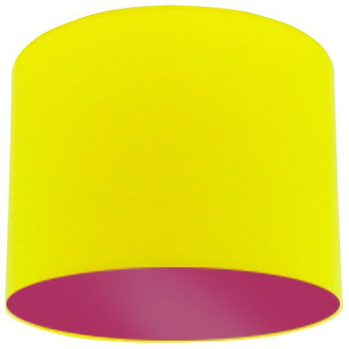 Yellow Lamp Shade with Violet Lining