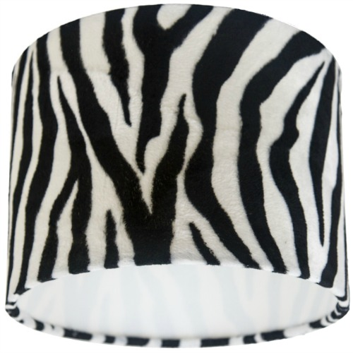 Zebra Animal Print Drum Lampshade